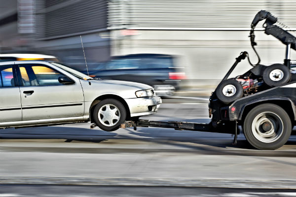 long distance small car tow