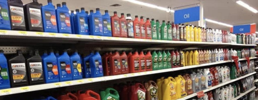 Choosing the right type of oil for your car.