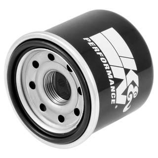 A k&n premium oil filter for a car.