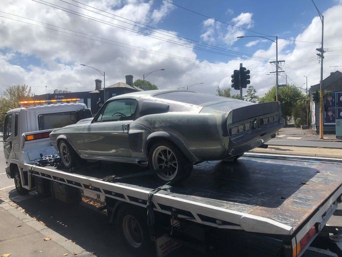 Melbourne's own specialised vehicle towing service in action.